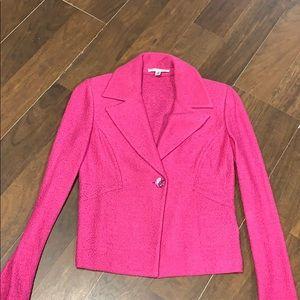 Saint John pink knit blazer size 2